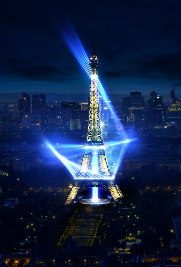 Eiffel Tower in Paris at night